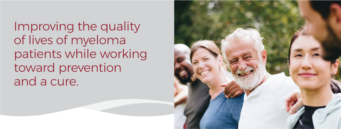 International Myeloma Mission Statement with picture of diverse group of people